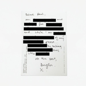 Douglas Gordon: Private Letter.